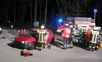 Realitätsnahe Verkehrsunfall-Übung in Eriskirch