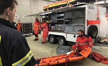 Gemeinsame Übung zwischen DLRG und Feuerwehr