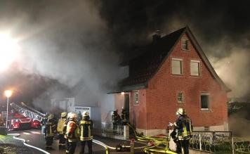Brandeinsatz-Übung im Tettnanger Wohngebiet